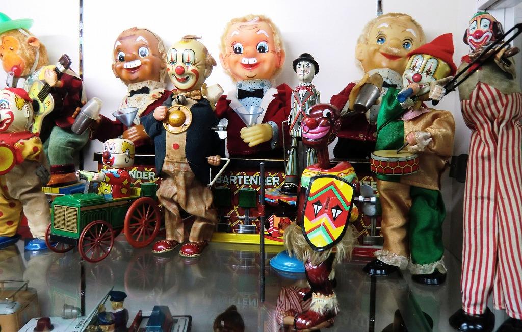 【ブリキのおもちゃ】電動のおもちゃとピエロのおもちゃ